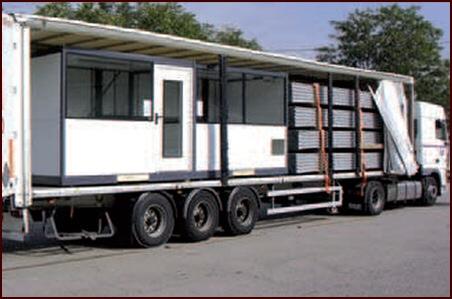 cabine palettisable cubistic transportée montée par camion