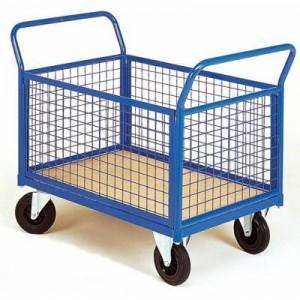 chariot d'atelier à 4 côtés grillagés amovibles MSI