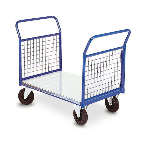 chariot atelier MSI plateau galva 2 dossiers grillages amovibles 350kg